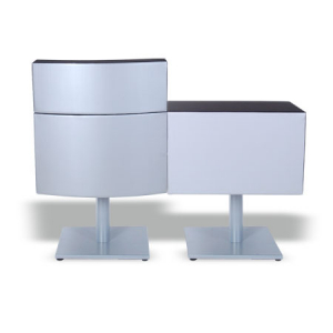 Bee Set Reception Desk Silver