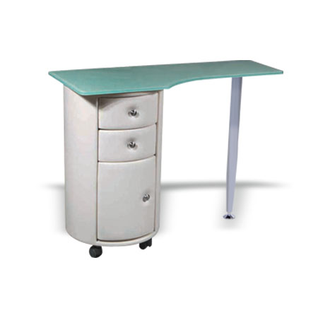 Buy round manicure table mt04 online hba salon equipment for Unique manicure tables