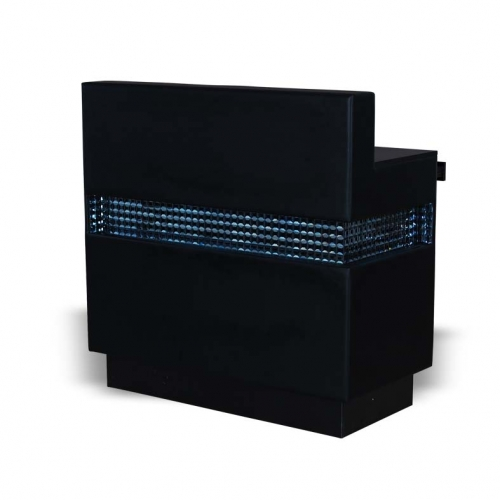Buy julia reception desk rd15 black online hba salon for Tattoo shops hiring front desk